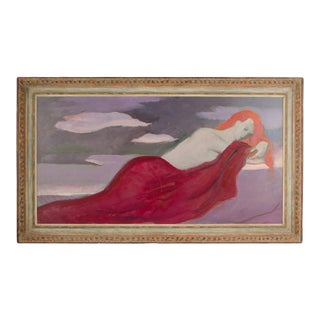 """Late 20th Century """"Sleeper"""" Figurative Oil Painting by Roman Gregory Chatov, Framed For Sale"""