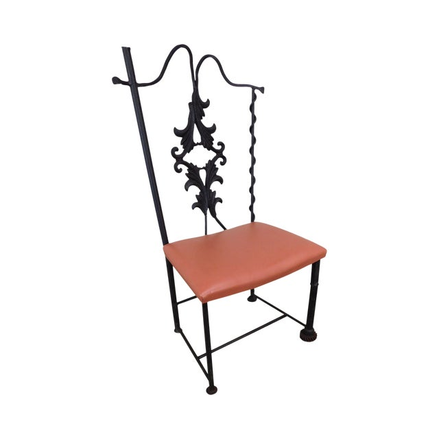 j.w. Zan Hand Forged Reclaimed Iron Chair (B) For Sale