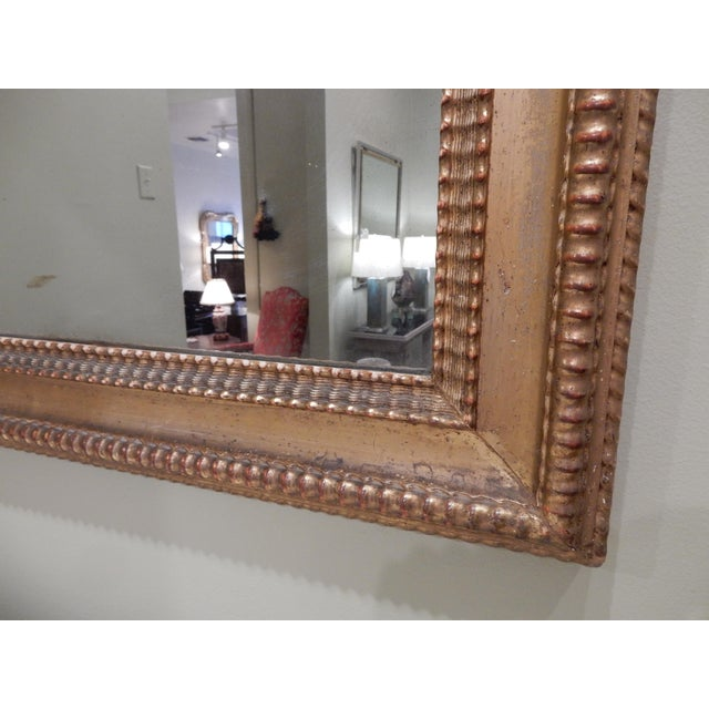 19th Century French Charles X Gilt Mirror / Mercury Glass For Sale - Image 4 of 10