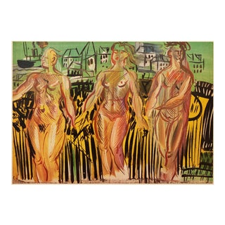 """1954 Raoul Dufy, First Edition Lithograph """"The Siene, the Oise, and the Marne"""" For Sale"""