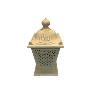 Cast Stone Moroccan Lantern For Sale
