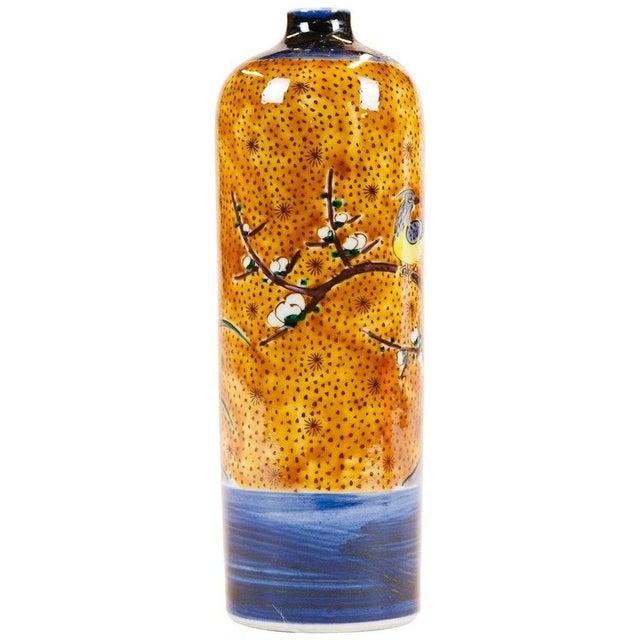 Asian Lawrence & Scott Japanese Kutani Bird Vase For Sale - Image 3 of 5