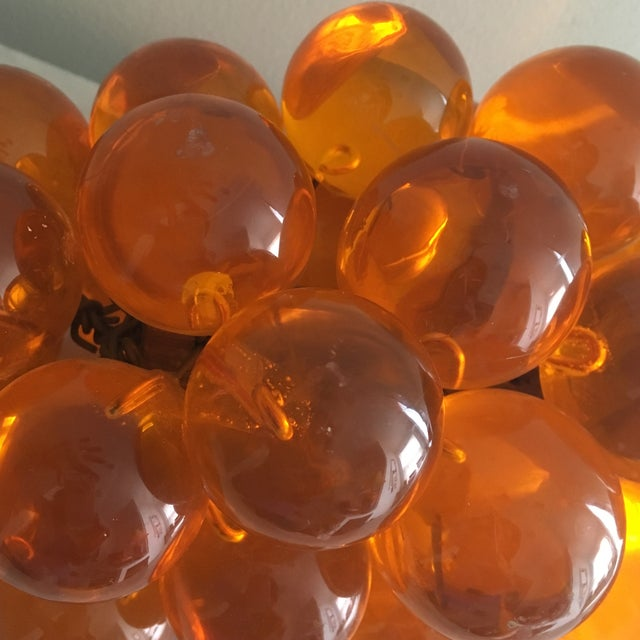 1960s Oversized Orange Lucite Grapes For Sale - Image 5 of 6