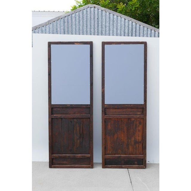 Chinese Mirrored Doors - a Pair For Sale - Image 4 of 4