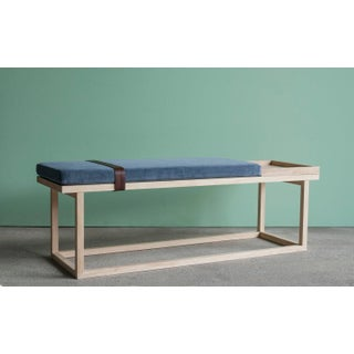 Ebb and Flow Tray Bench in Violet Grey Velvet Preview