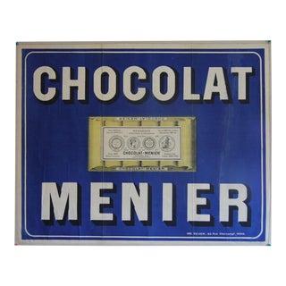 Vintage Chocolat Menier Poster For Sale