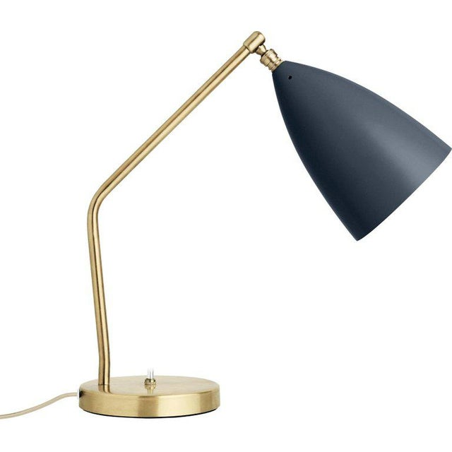Metal Greta Magnusson Grossman 'Grasshopper' Table Lamp in Light Gray For Sale - Image 7 of 11