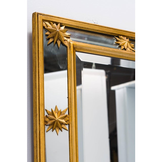 Wood Neoclassical Style Star Mirror For Sale - Image 7 of 8