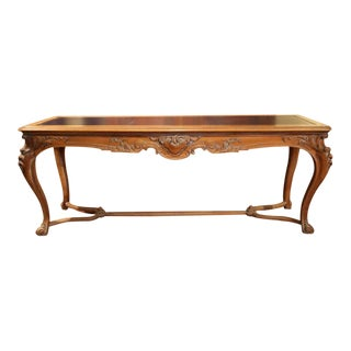 19th Century French Louis XV Carved Walnut Console