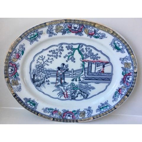 This antique platter is by Ashworth Brothers England and belongs to the Chinese Pattern line. It is in very good condition...
