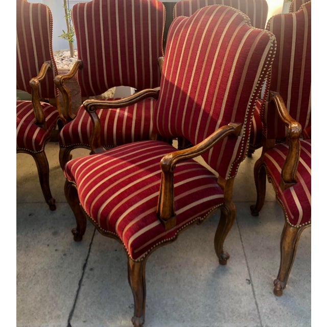 Red Minton Slidell Regence French Regency Dining Chairs - Set of 6 For Sale - Image 8 of 9