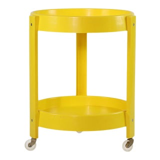 1970s Yellow Two-Tier Cart For Sale
