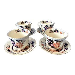 1950s Large Mason's Mandarin Cup & Saucers - Set of 4 For Sale