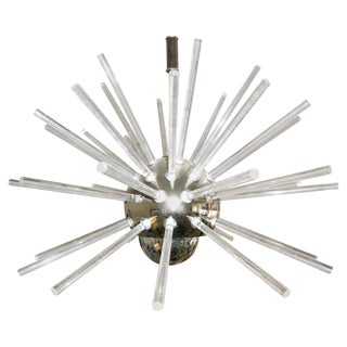 Stilnovo 1960s Sputnik Chandelier in Chrome and Lucite For Sale