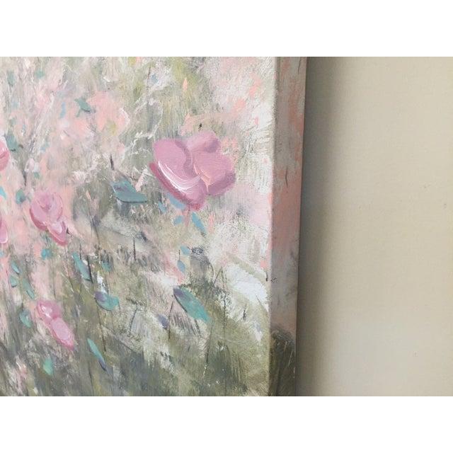 """True Colors"" Original Acrylic Flower Painting - Image 3 of 4"