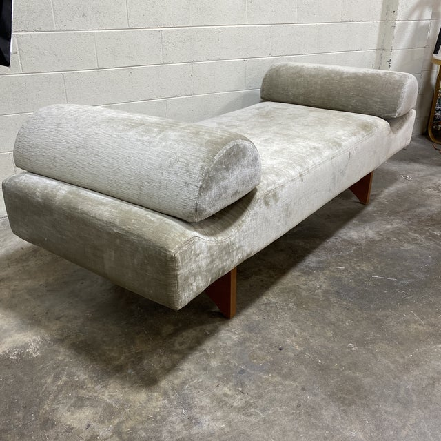 This is not your mothers daybed! This was a custom built and designer upholstered daybed bench for a window seat in a...