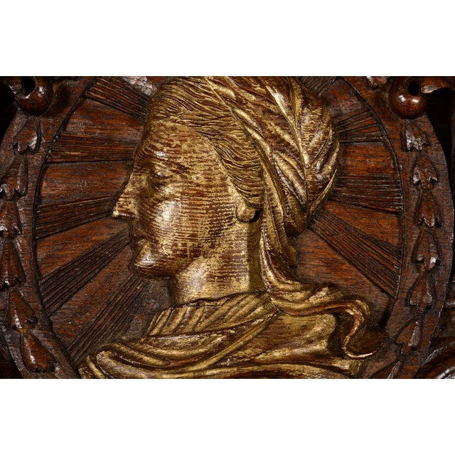Antique Rococo Carved Wood Wall Panel For Sale In Los Angeles - Image 6 of 11