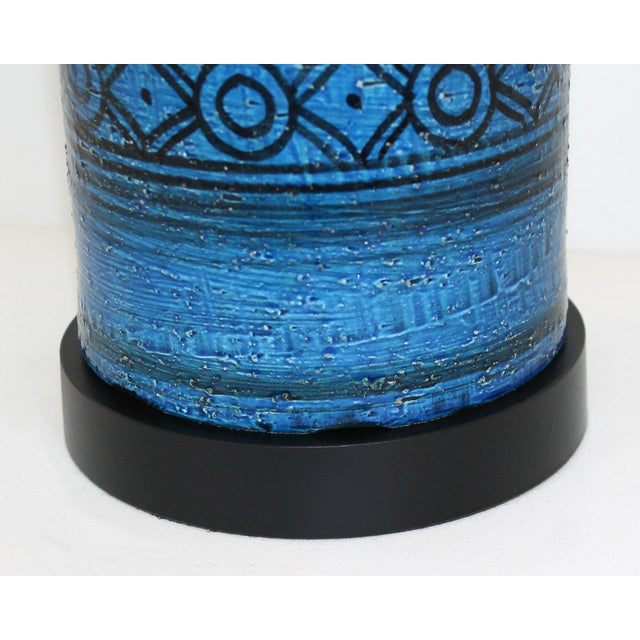 Bitossi for Raymor Blue Pottery Lamp - Image 4 of 9