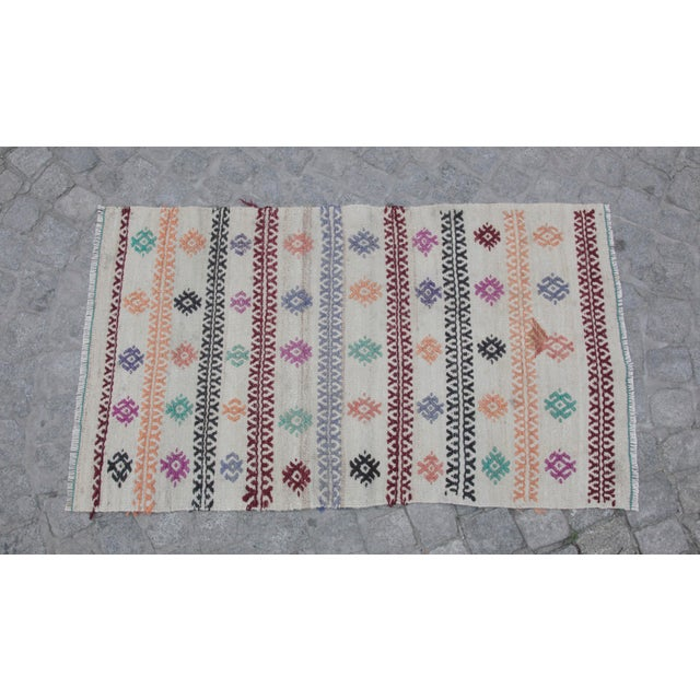 This is a one of kind old Nomadic Handmade Anatolia kilim. This kilim ready to use in your home decoration. i just do soft...