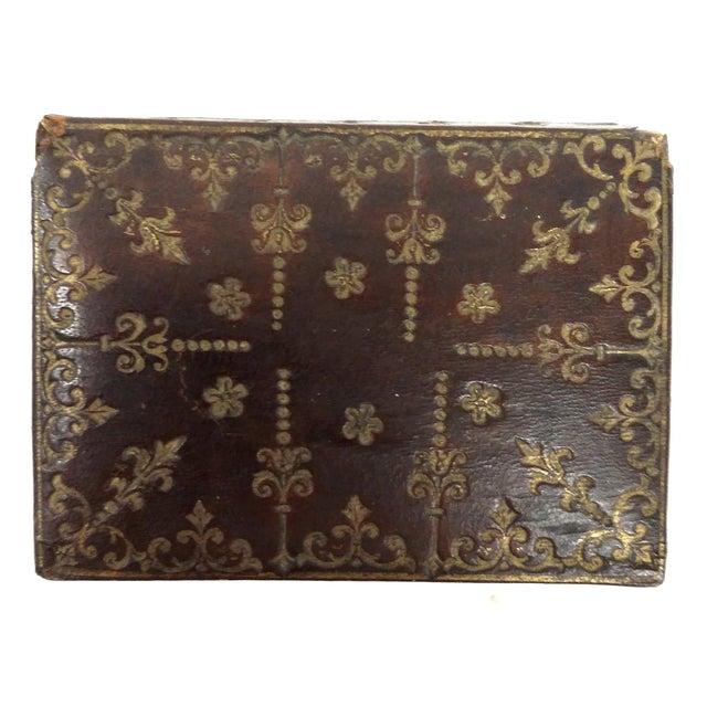 Mini Fleur-de-Lis Leather Box - Image 1 of 10