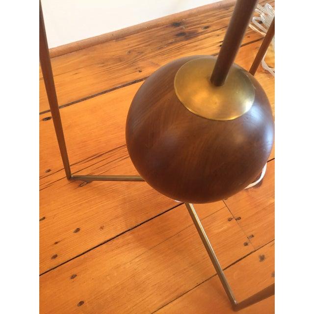 Jonathan Adler Ohai Walnut & Brass Lamp - Image 9 of 10
