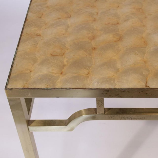"""Mid-Century Modern 1950s USA William """"Billy"""" Haines Capiz Shell Game Table and Chairs For Sale - Image 3 of 11"""