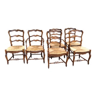 Set of 6 Antique Louis XV French Dining Chairs