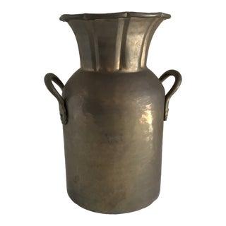 Rustic Vintage Brass Vessel Vase