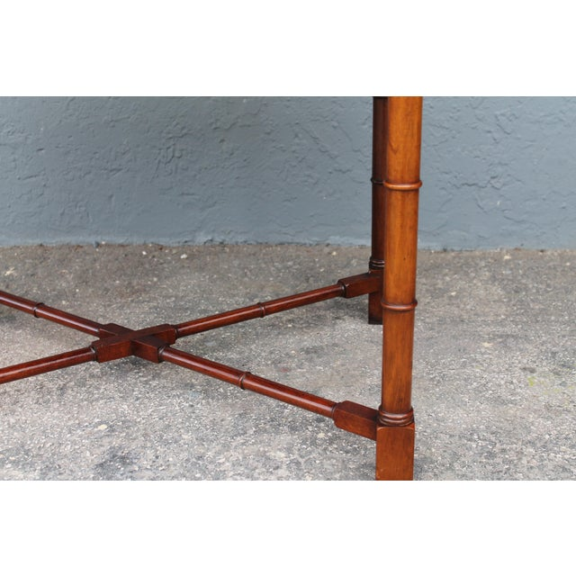 1970's Traditional Carved Wood Side Tables - A Pair - Image 10 of 11