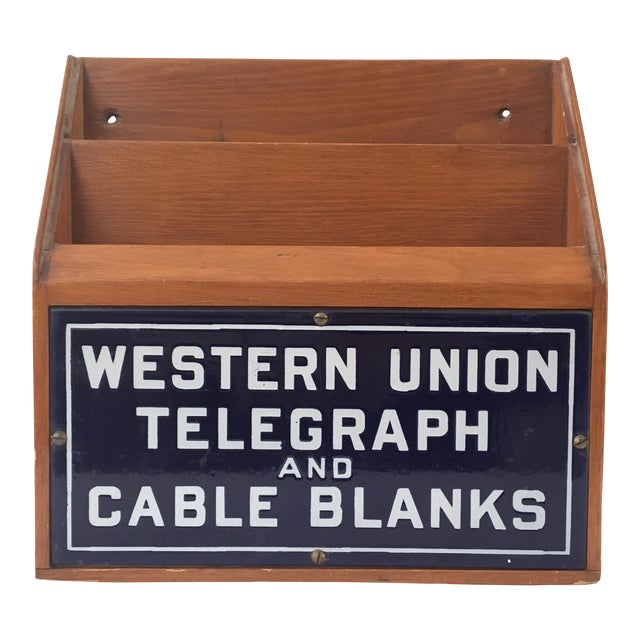 Western Union Telegraph & Cable Blanks Box For Sale
