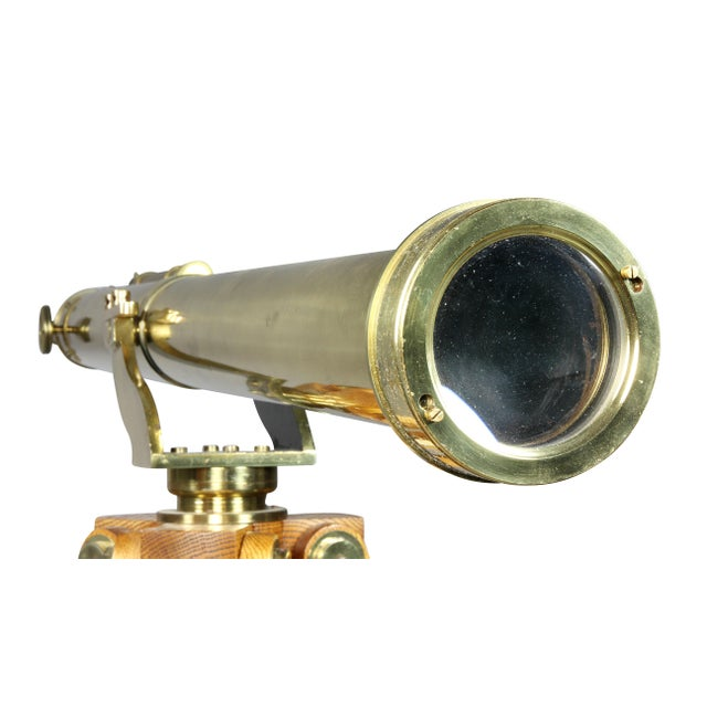 Edwardian Brass Telescope on Stand by J.H.Steward For Sale In Boston - Image 6 of 11
