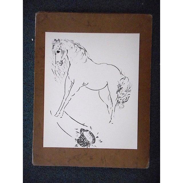 Marcel Vertes Vintage Mid 20th C. Ltd. Ed. Lithograph-Marcel Vertes c.1961 For Sale - Image 4 of 4