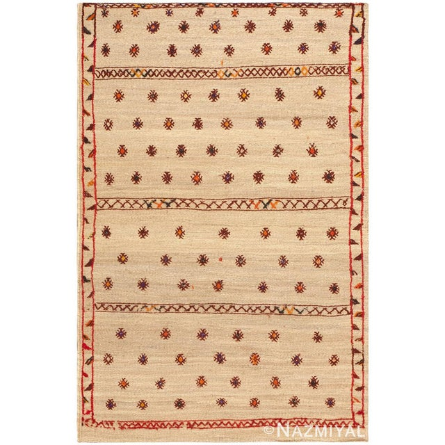 Vintage Moroccan Rug, Country of Origin: Morocco, Circa Date: Mid 20th Century – Richly cultural and classically styled,...