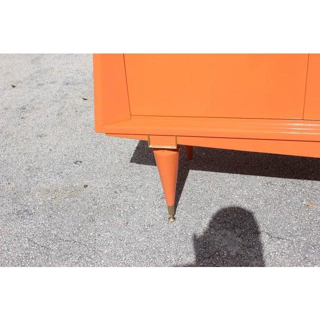 Art Deco Modern Orange Sideboard - Image 5 of 10