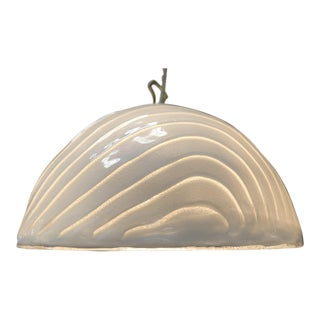 Vetri Murano Mid-Century Dome Pendant Light For Sale