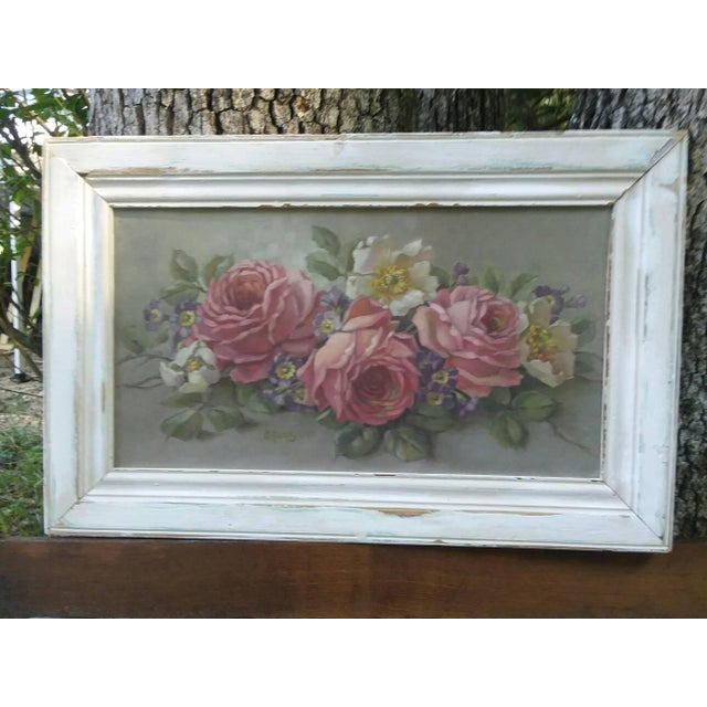 Christie Repasy Shabby Chic Floral Painting - Image 2 of 5