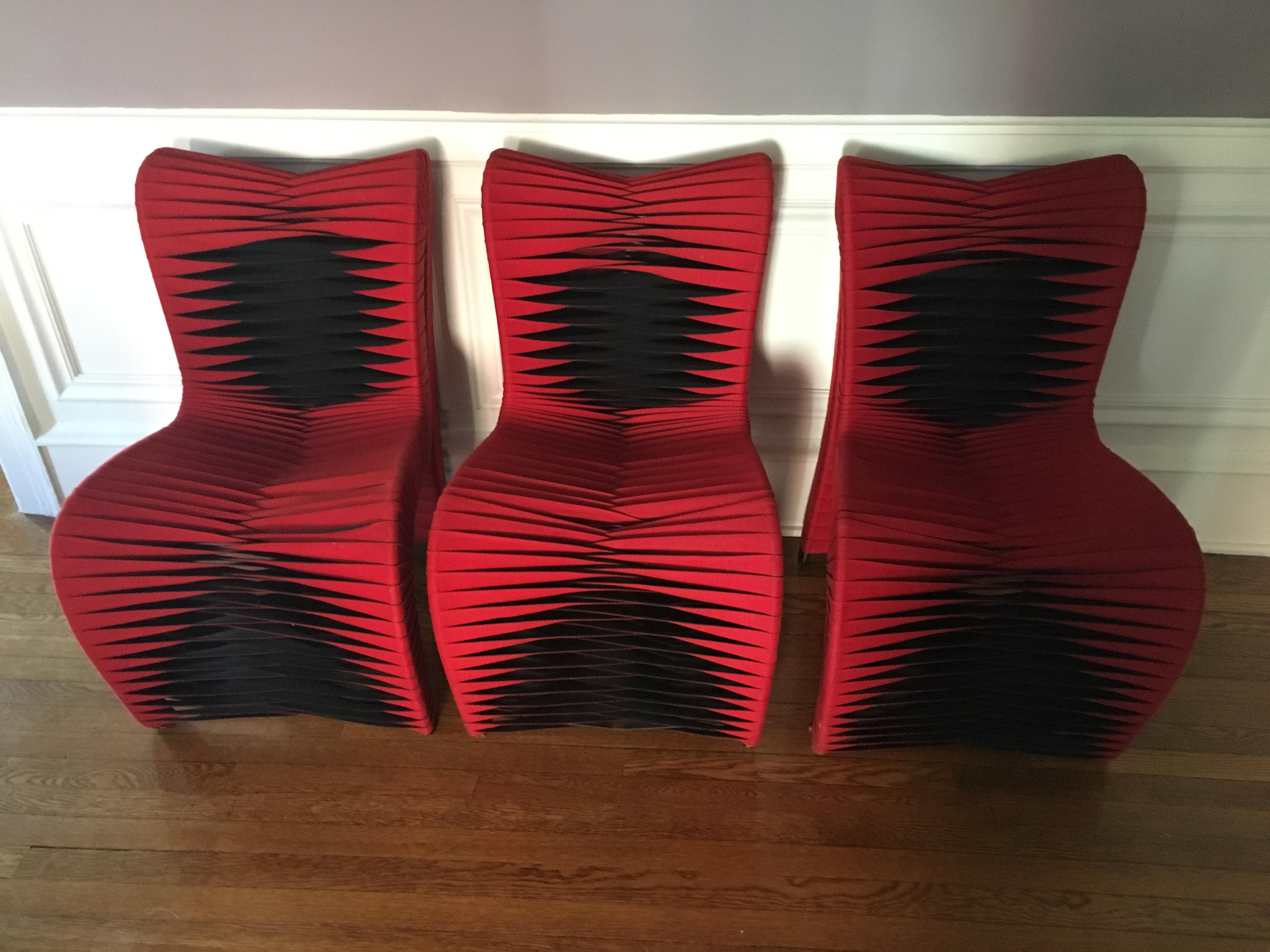 Phillips Collection Seatbelt Chairs   A Pair   Image 2 Of 11