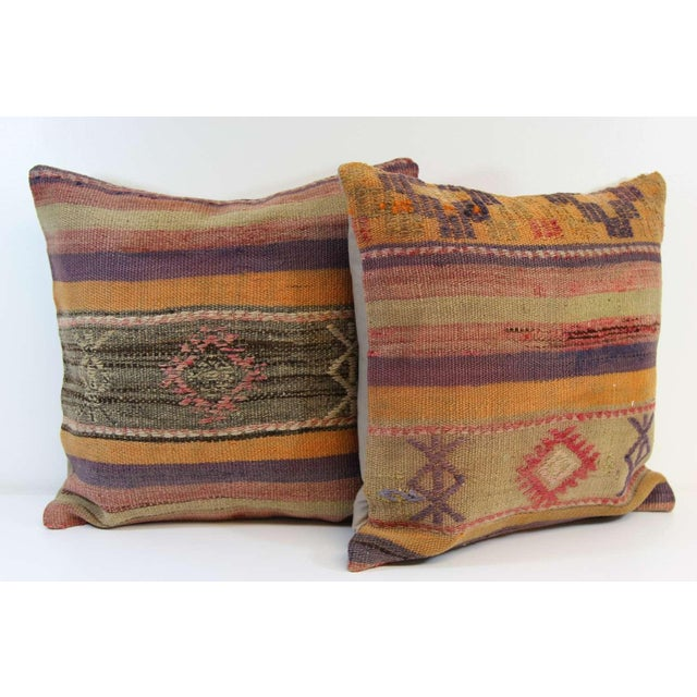 Turkish Kilim Pillow Covers - A Pair - Image 7 of 7
