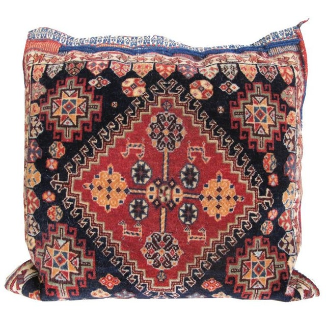 Pair of Qashqai Bagface Pillows For Sale - Image 4 of 7