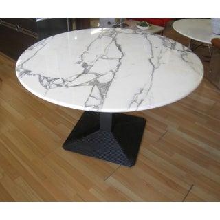 "1970's B&B Italia ""Piediferro"" Marble Top Pedestal Dining Table Preview"