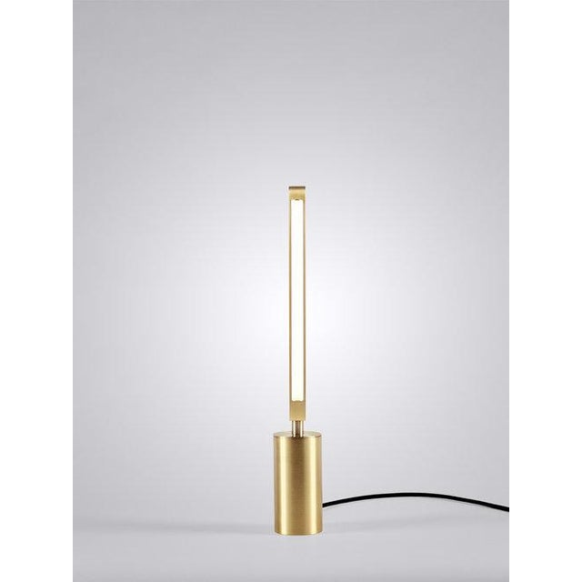 """By Pelle Starting Price: $3,200 in satin brass Specifications: 3.5"""" d x 22"""" h (6lbs) Materials: Machined Aluminum, Solid..."""