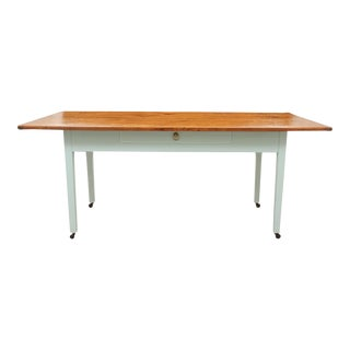 Country Style Palladium Blue Farm Table