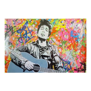 "Mr. Brainwash "" Bob Dylan "" Rare Authentic Lithograph Print Pop Art Poster For Sale"