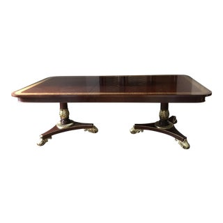 Baker Mahogany & Gilt Dining Table
