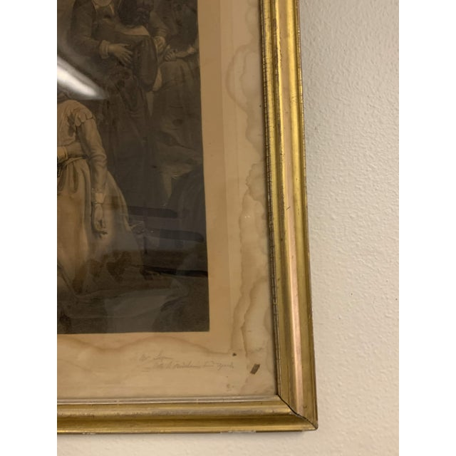 Antique French Lithograph in Gold Leaf Frame For Sale - Image 10 of 13