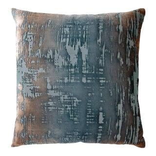Gunmetal Brushstroke Velvet Pillow
