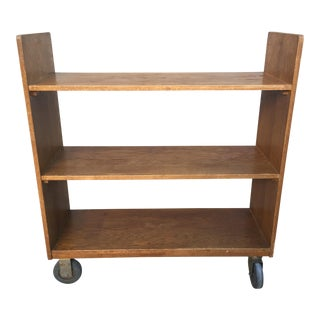 Vintage NYC Public Library Book Cart For Sale