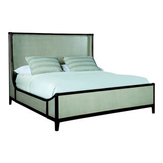 Century Furniture Canvas King Bed, Dove Grey For Sale