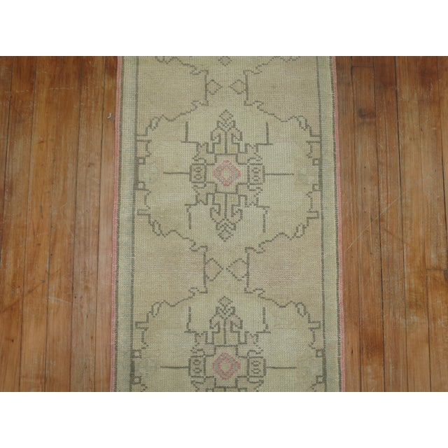 Mid 20th Century Vintage Turkish Runner, 1'10'' X 9'3 For Sale - Image 5 of 6