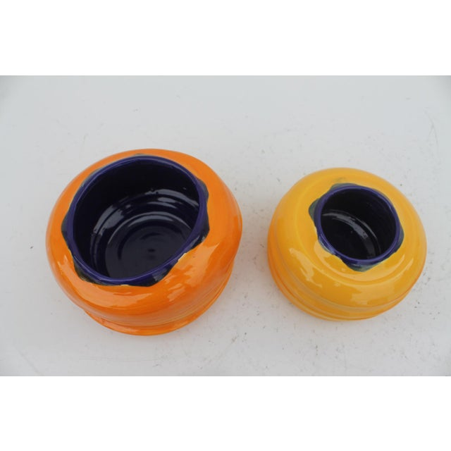 Vintage Colorful Art Ceramic Vases - a Pair - Image 5 of 6